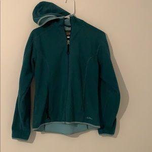 LL Bean Teal Zip Up Jacket!
